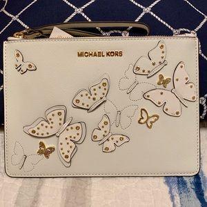 🦋 Michael Kors Butterflies Top Zip Clutch 🦋